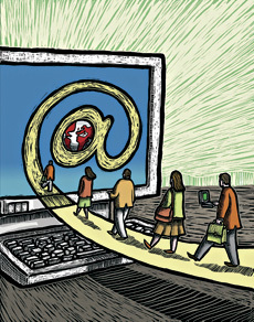 Empresas recrutam talentos na Net
